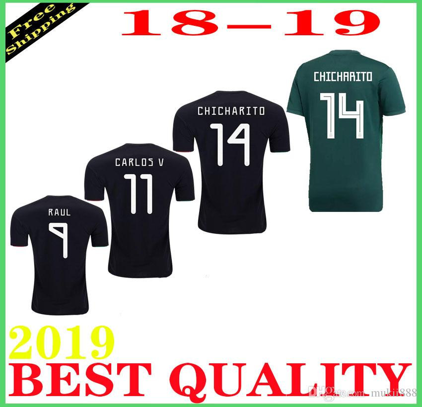 b23437ff4 2019 Mexico Jersey Soccer Mexican 10 Giovani Dos Santos 14 CHICHARITO 22  LOZANO 13 G OCHOA Goalkeeper Football Kits Men Kid Lady From Mukii888