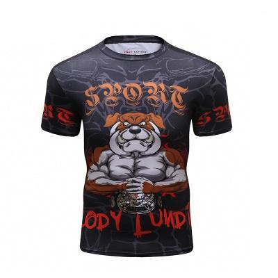 2019 New High Quality Compression Shirt Short Sleeve 3D Print BJJ UFC T  Shirt Men s MMA Rashguard Fitness Bodybuilding Tops Compression Shirt 3D  Print MMA ... 8b8c9cc2a5