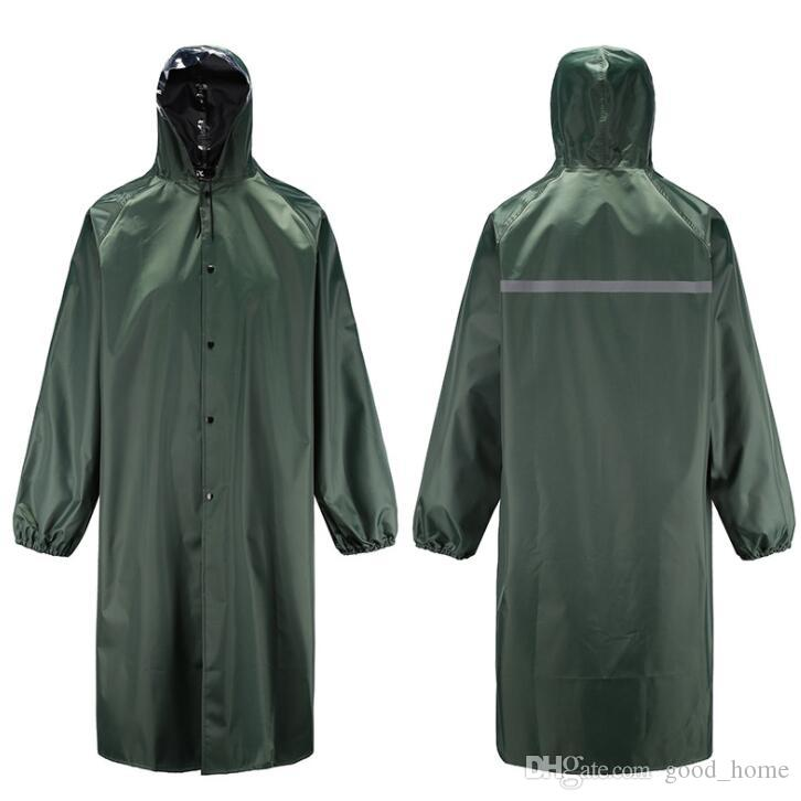 detailed pictures release date: Sales promotion Adult Raincoat Impermeable Reflective Raincoat Outdoor Work Travle  Waterproof cape cover Hooded Poncho Long Raincoat SSA39