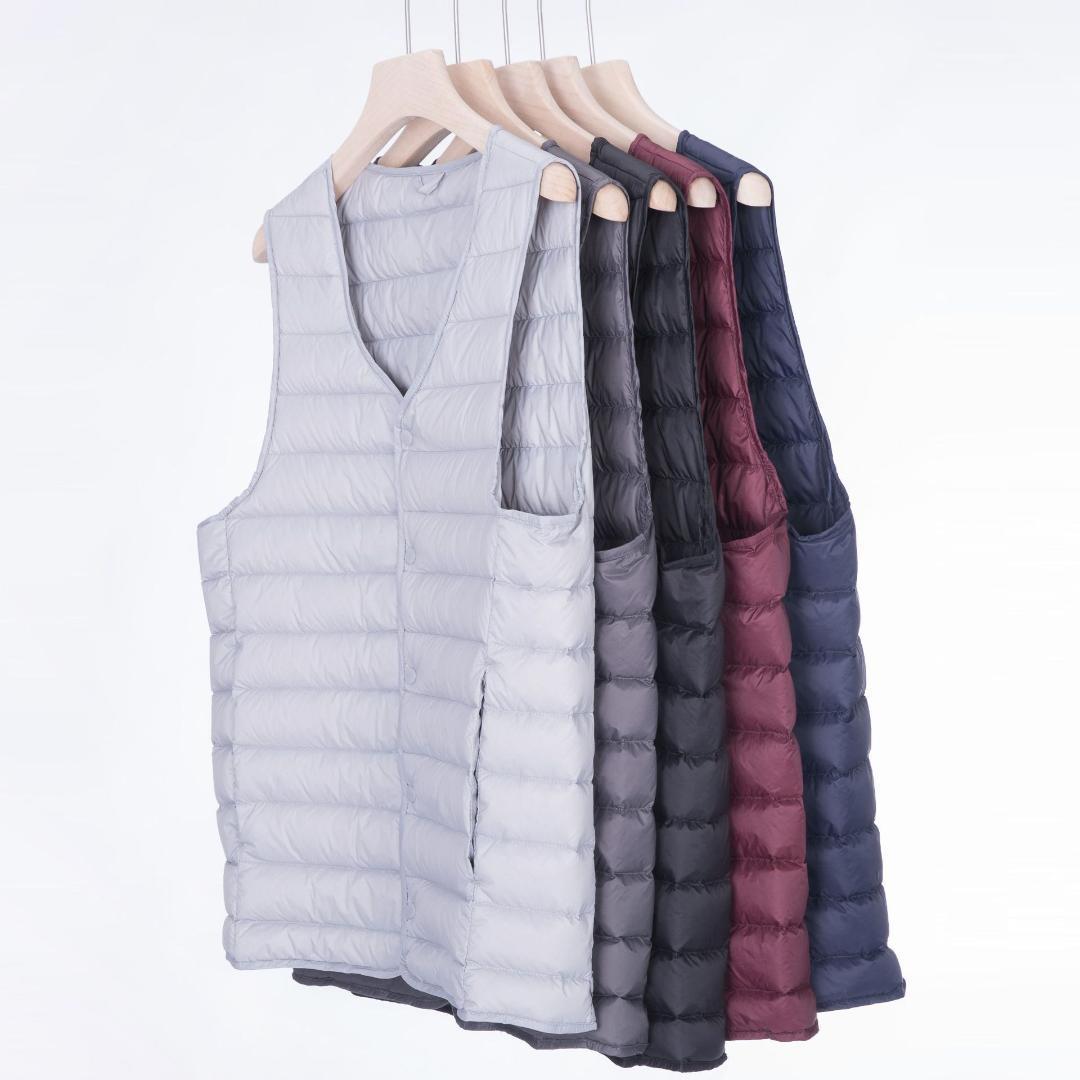 815a7cd5228 Compre 2019 Chaleco Para Hombre Chaquetas Light Thin Style Azul Marino
