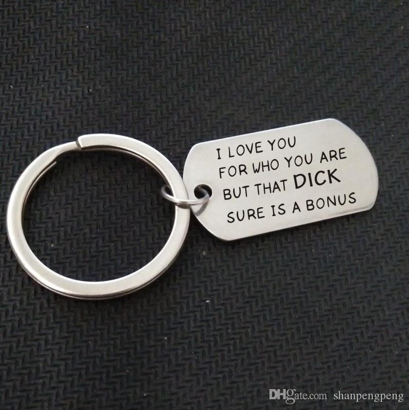 Valentine S Day Funny Keychain For Boyfriend S Gift Stainless Steel
