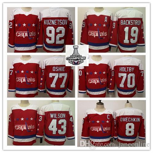 low priced 84dca abb3a 2019 Washington Hockey Alternate Third Jerseys 8 Alexander Ovechkin 77 TJ  Oshie 70 Braden Holtby 43 Tom Wilson 19 Backstrom Kuznetsov Jersey
