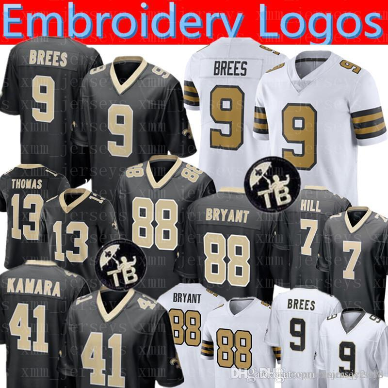 2019 New Orleans Saints 9 Drew Brees Jersey 88 Dez Bryant 41 Alvin Kamara 7  Taysom Hill 23 Marshon Lattimore 13 Michael Thomas Jerseys TB From ... d12c949ac