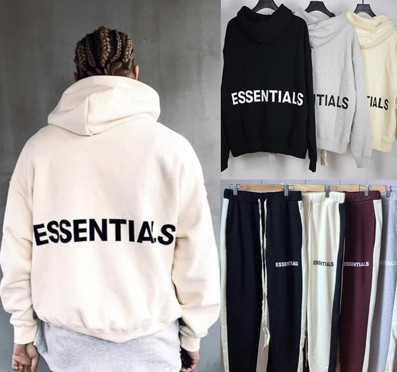 Fear Of God Essentials Pullover Hoodie Justin Bieber Hip Hop Streetwear Oversized Hoodie Fleece Hooded Sweatshirt Coat FOG MQH1104
