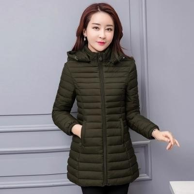 2018 new winter coat plus size 4XL 5XL 6XL 7XL cotton jacket for middle and long women is loose and fat mm down padded jacket