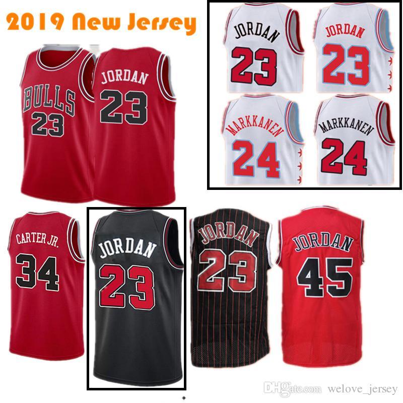 154bf014cf2a 2019 Bulls Jerseys 23 MJ 24 Markkanen 8 LaVine Men S Chicago 34 Carter Jr   45 Retro Mesh Basketball Jerseys Hot Sale From Welove jersey