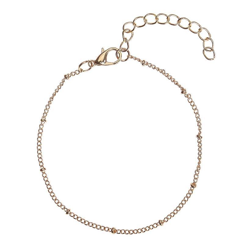 330445d47280 Compre Simple Perlas De Oro   Plata Accesorio Pulsera De Cadena Para Las  Mujeres De Moda Charm Girls Muñeca Adornos Para Regalos A  33.74 Del  Shuocong ...