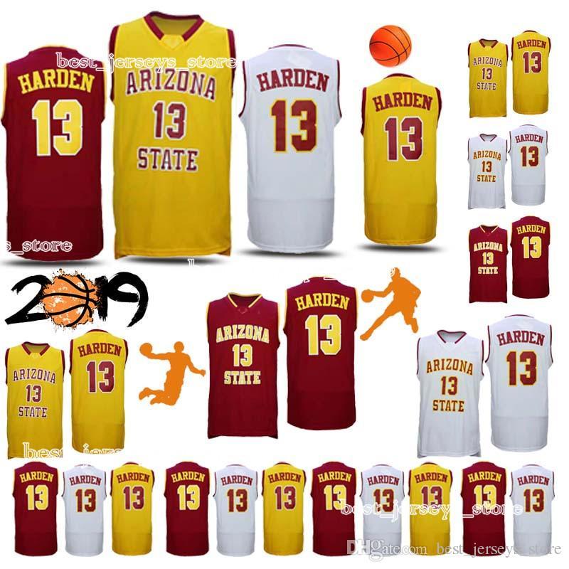 67a53620e9f 2019 NCAA Arizona State Sun Devils Jerseys 13 Harden Basketball Jerseys 2019  Top MEN Shirt From Best jerseys store