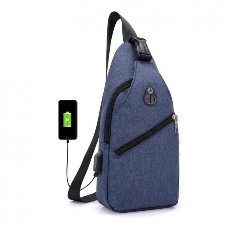 e3d5d93a66 Male Chest Bag Fashion Leisure Waterproof Man Oxford Cloth Korea ...