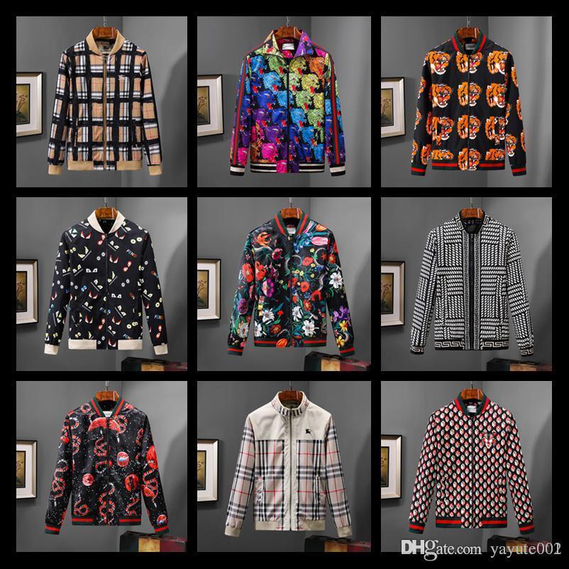 f964d9a44 19SS Italy Luxury designer Fashion casual slim jackets windbreaker coats  men bomber jacket snake bee floral print mens Jackets 01
