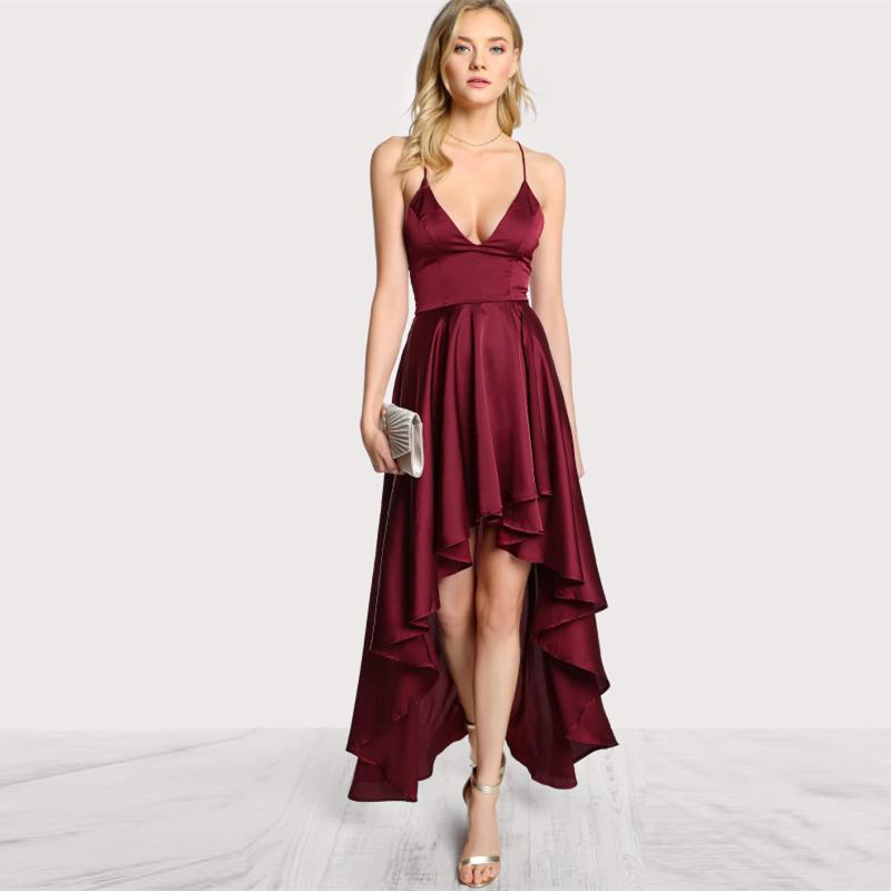 5f19341db8 Party Dress Deep V Neck Spaghetti Strap Sleeveless Maxi Dress ...