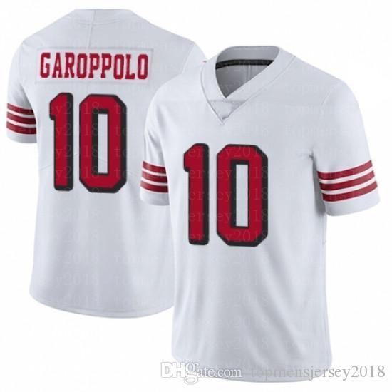 reputable site 5282c 06c53 San Francisco 49ers 85 George Kittle Jersey 10 Jimmy Garoppolo 80 Jerry  Rice Nick Bosa Richard Sherman Joe Montana Bowman
