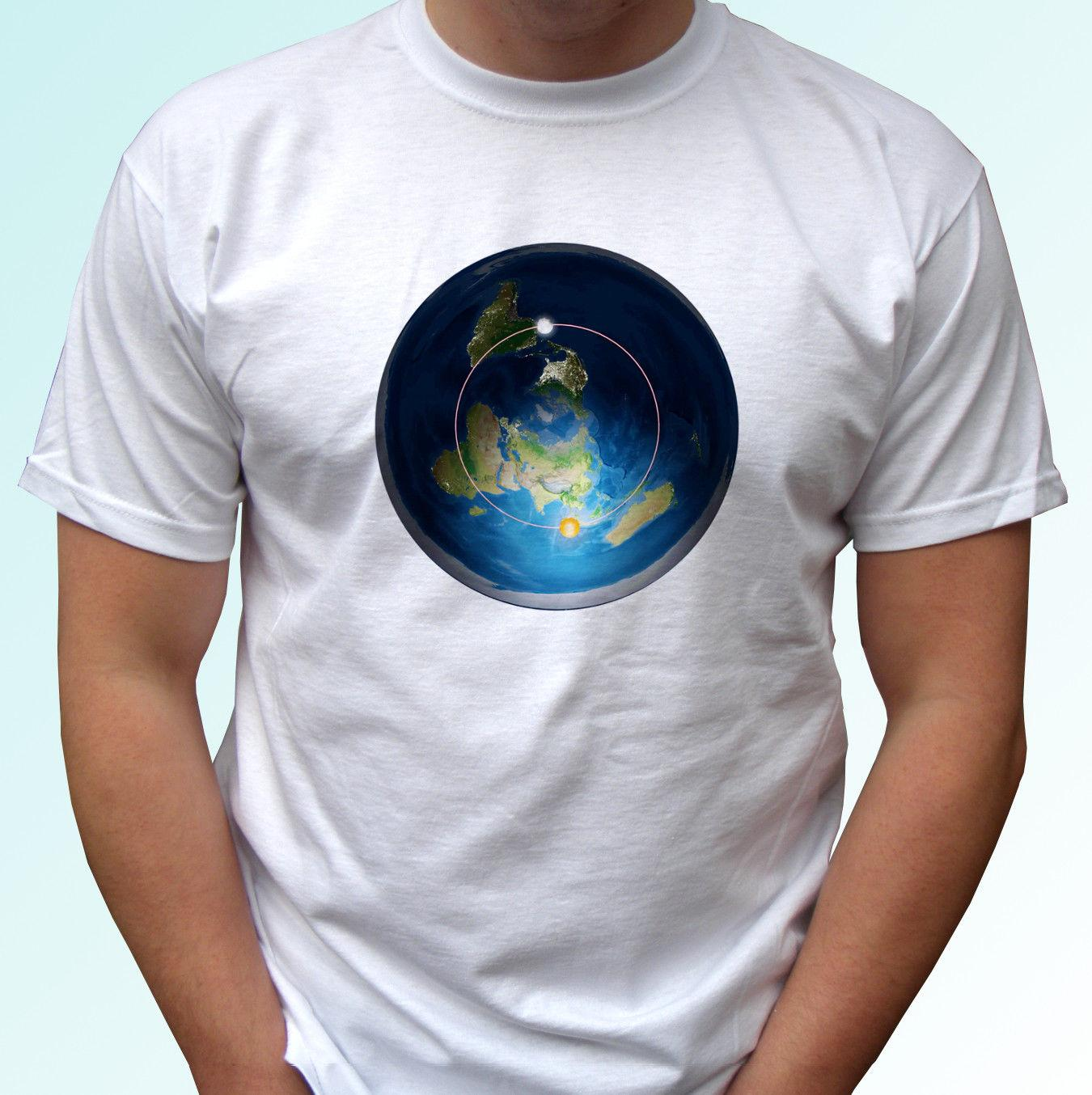 Flat Earth Map T Shirt Top Tee Design Mens Womens Kids Baby Sizes