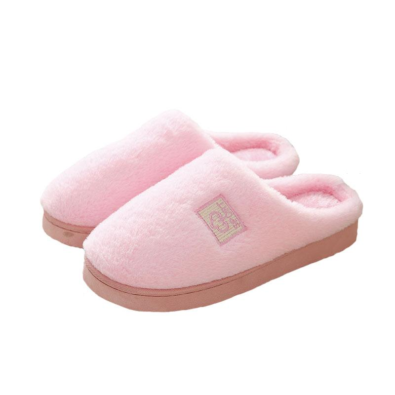 b31cc26ddb64a Women's Slippers Winter Warm Indoor Slippers Cute Soft Couple Household 5  Color Women's Large Size Plush Shoes TX128