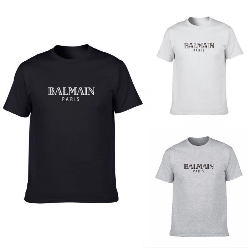 a1759cccb Balmain Mens Designer T Shirts Black White Grey Mens Fashion Designer T  Shirts Top Basic Short Sleeve S XXL Buy Funny T Shirts Shirts And T Shirts  From ...