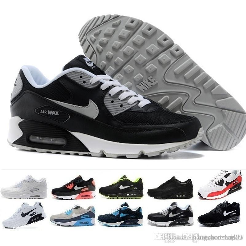 nike air vapormax max 90 Off white Flyknit True Rainbow Shoes para hombre 90s 3M Reflective Mars Landing Running Shoes Designer Mixtape Jelly Sports