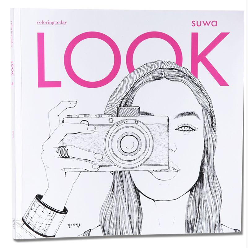 Secret Garden Fashion Look Libros Para Colorear Para Adultos Niños Chicas Antiestrés Arte Dibujo Pintura Libro Para Colorear