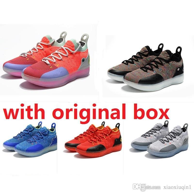 low priced c860e 4f683 2019 Cheap New Mens KD 11 Basketball Shoes For Sale MVP Red BHM Women Kevin  Durant Xi Low Kids Boots Sneakers With Original Box From Xiaoxiuqin1, ...