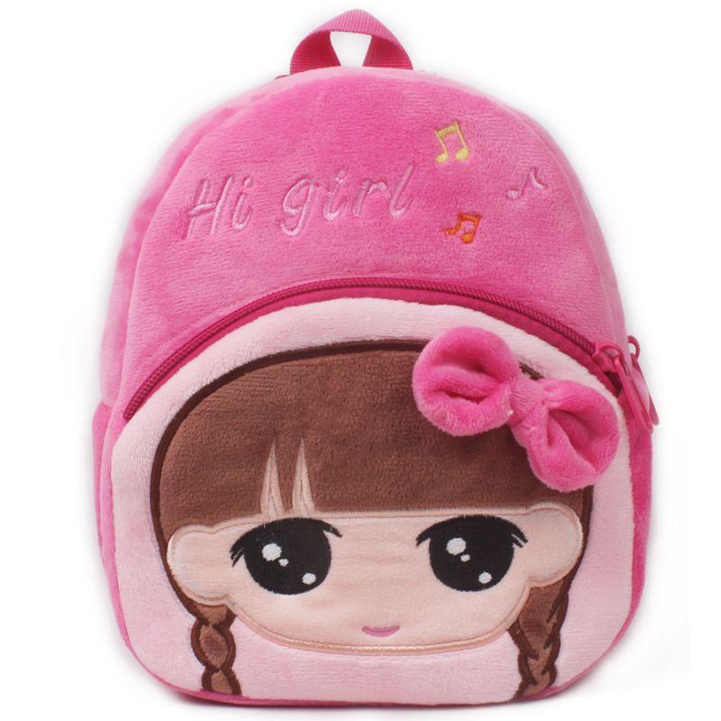 abd904c22b Hot Sale Kids Cartoon Plush Backpacks Mini Schoolbag Hello Kitty ...