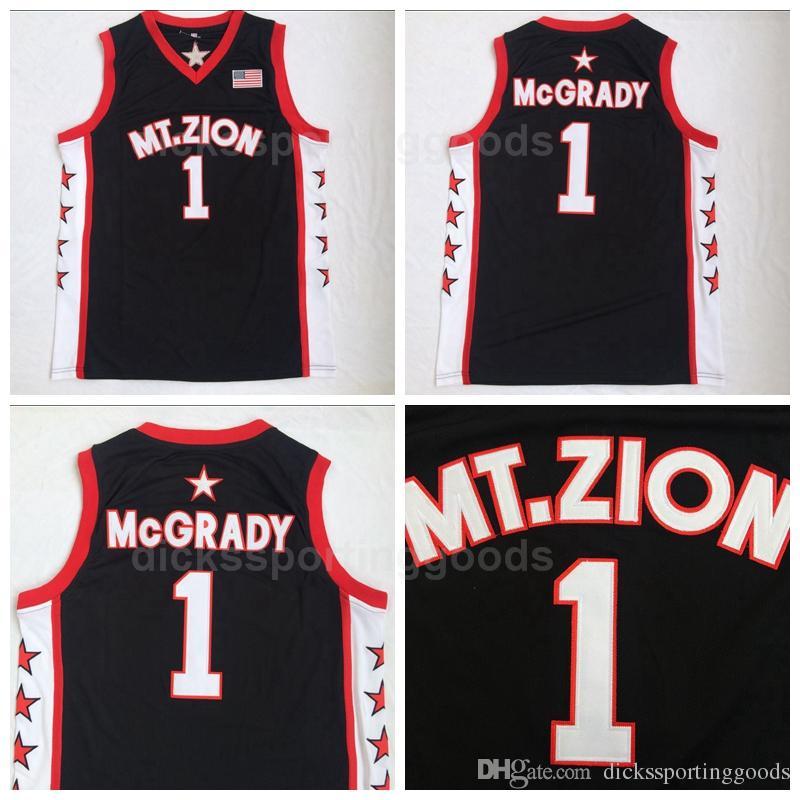 the latest c4c86 b1c11 NCAA College MT.ZION 1 Tracy McGrady Jersey Men Christian T-Mac Basketball  Jerseys Team Black Color University Top Quality On Sale
