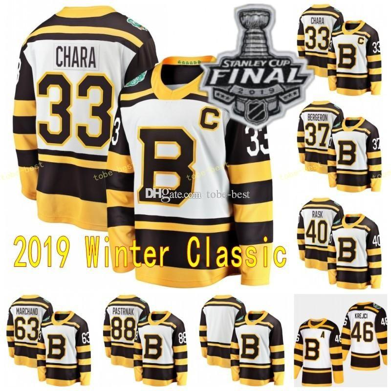 official photos be62c 74897 2019 Stanley Cup Boston Bruins Charlie Mcavoy Jersey Jake DeBrusk Chara  Patrice Brad Marchand Bobby Orr Cam Neely David Pastrnak Hockey