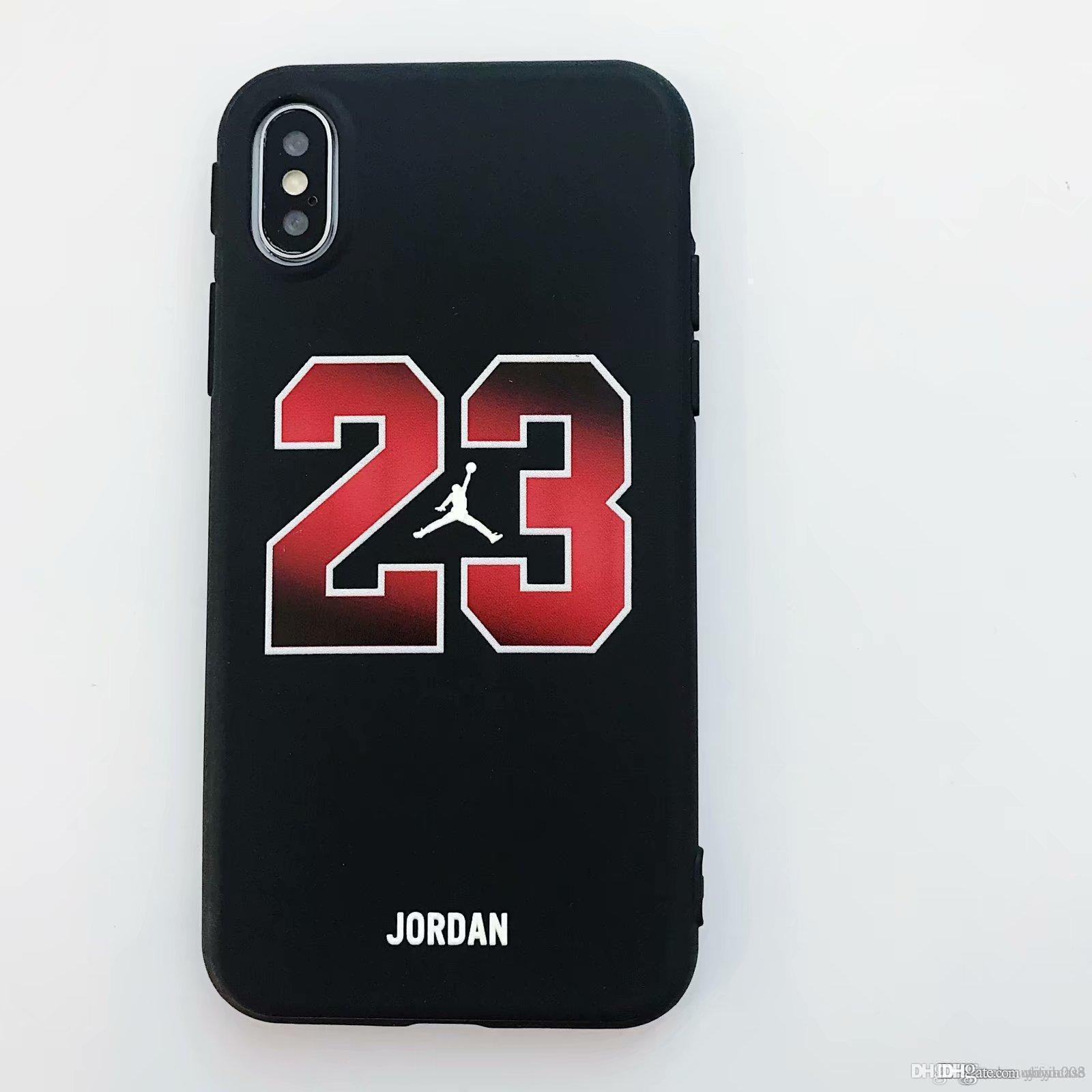 2018 New For iphone X Xs Xr Xs Max 7 7Plus 6S 6 6Plus 8 8Plus Phone Cases  Basketball Sports Brand Soft TPU Phone Case