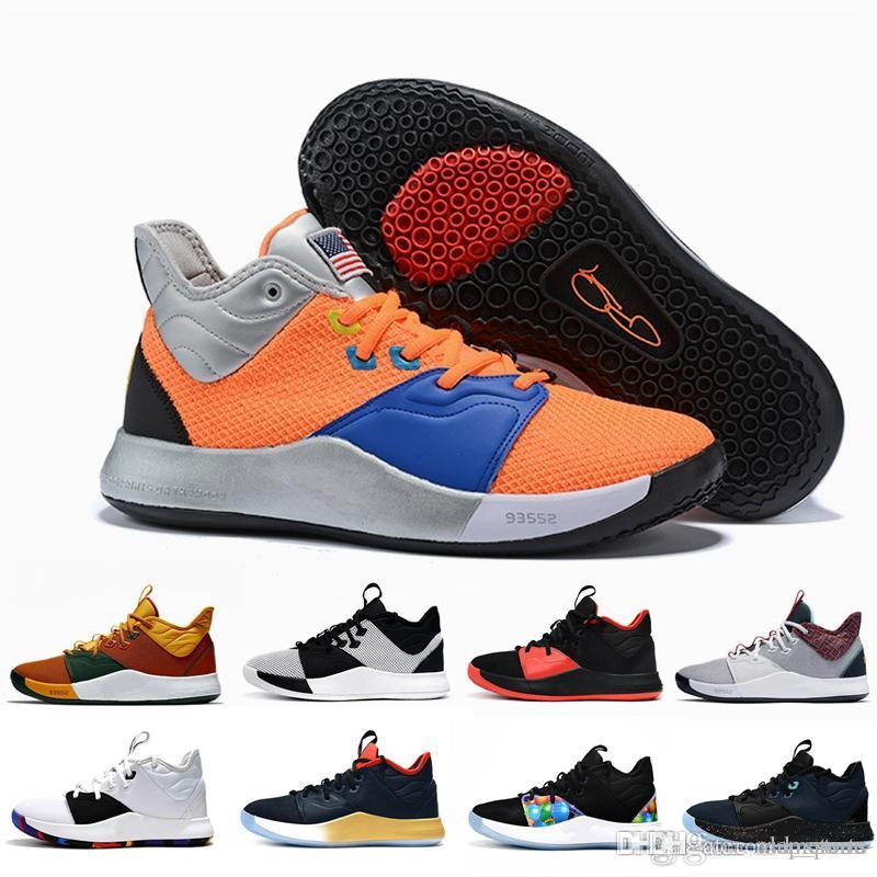 a3a641596158 2019 All Star Paul George PG 3 3S PALMDALE III P.GEORGE Basketball Shoes  Cheap PG3 Black Month Olive Sports Sneakers Size 40 46 Carmelo Anthony Shoes  ...