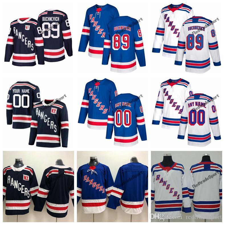 best service 9cf4c a08ee 2018 Winter Classic New York Rangers Pavel Buchnevich Hockey Jerseys Mens  Custom Name Home Blue #89 Pavel Buchnevich Stitched Hockey Shirts