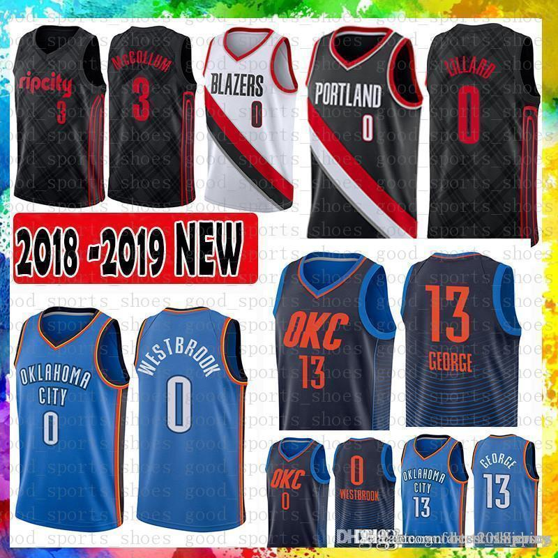 ddf9b67e932 ... best price 2019 mens oklahoma city 0 russell westbrook thunder jersey  13 paul george 0 damian