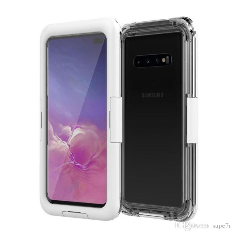 Pour Samsung S10e S10 Plus Etui Imperméable Surf Diving Swim PC Silicone Étui Sans Soudure Iphone Xr Xs Max 8 Plus Couvercle Étanche