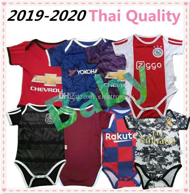 newest 90e43 e7c16 19 20 Real Madrid Hazard Baby Soccer Jerseys messi ICAROI salah United ajax  mexico Kids Football Jersey 2019 Argentina Baby Jumpsuits Kits