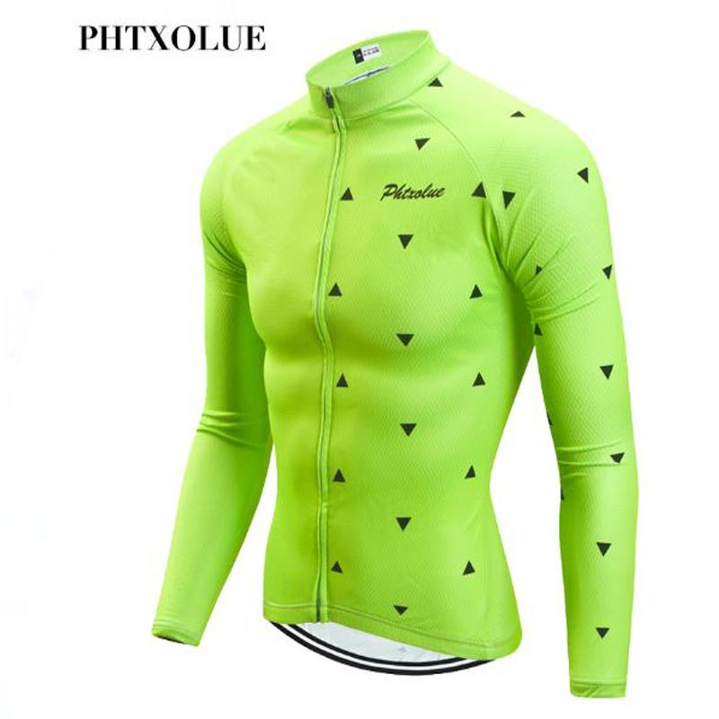 Phtxolue Long Sleeve Cycling Jersey MTB Bike Clothing Wear Autumn ... 4557f80be