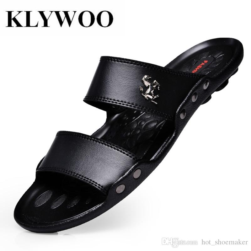 361bf0e0 Compre KLYWOO Zapatos De Moda De Verano Para Hombre Sandalias Diapositivas  Chanclas De Playa Sandalias De Hombre De Lujo Zapatos Casuales Para Hombre  ...
