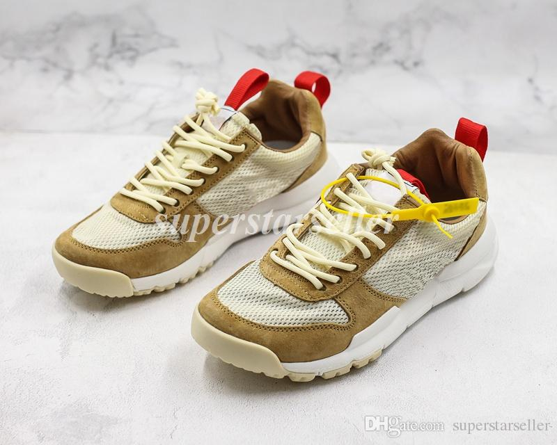 san francisco 866a3 9ca32 Acquista Top Quality Craft Mars Yard Shoe 2.0 Tom Sachs Space Camp Mens  Designer Scarpe Sport Running Trainers Donna Sneakers Da Ginnastica Taglia  36 45 A ...