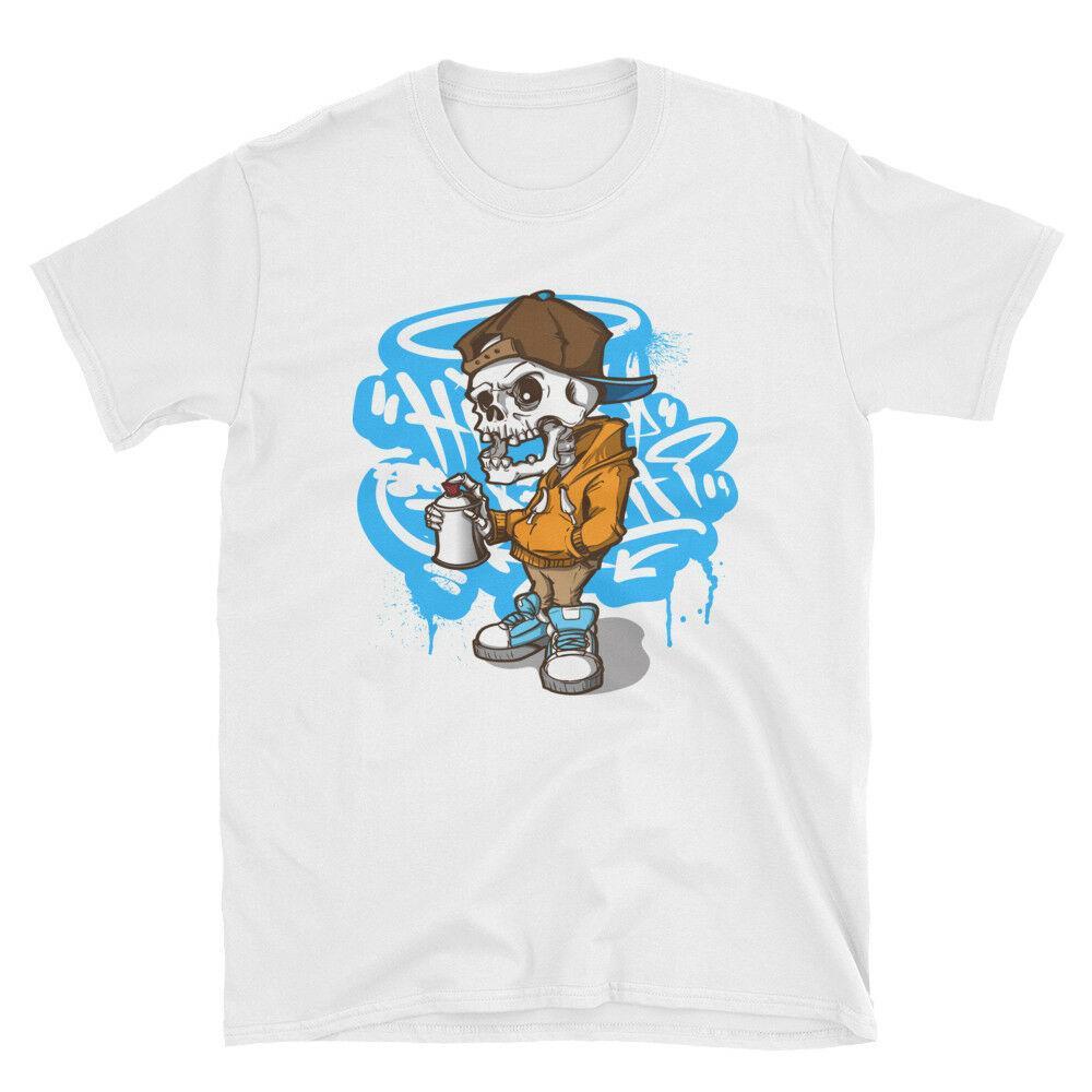 ed7cb4111 Graffiti Art T Shirt Spray Street Urban Painting Graphic Cartoon Men ...
