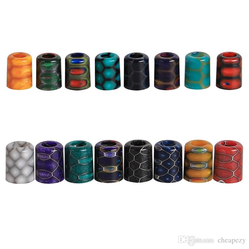 Orion POD Cobra Drip Tip Colorful Honeycomb Epoxy Resin Mouthpiece Fit Lost  Vape Orion Go Kit lostvape Q Pods e cigarette