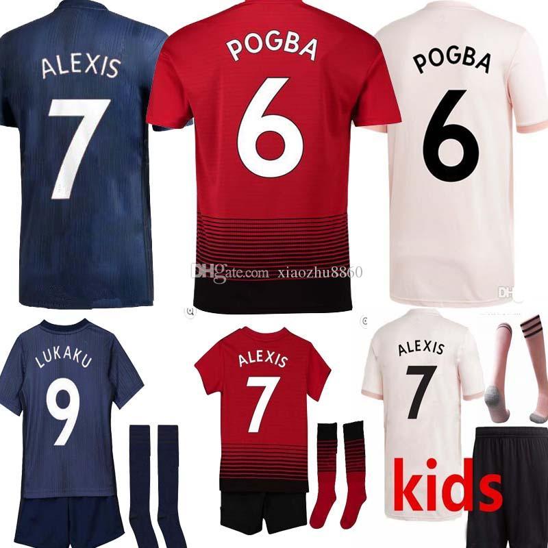 online store 892d3 e4c3e 2019 Cup Shirts LUKAKU ALEXIS SANCHEZ MAN RASHFORD Soccer Jersey 18 19  POGBA MARTIAL De Gea UTD MATA MATIC Kids United EA Football Shirt