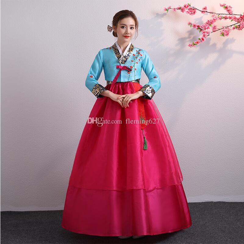 035f9b63b 2019 Asian National Dance Costume Hanbok Dress Traditional Wedding Korean  Hanbok For Women Stage Wear Cosplay Performance Clothing From Fleming627,  ...
