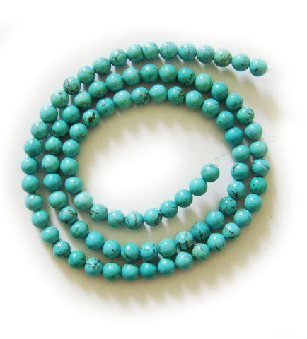 Natural stone round loose beads - DIY handmade beaded jewelry bracelet necklace earrings accessories (4MM)