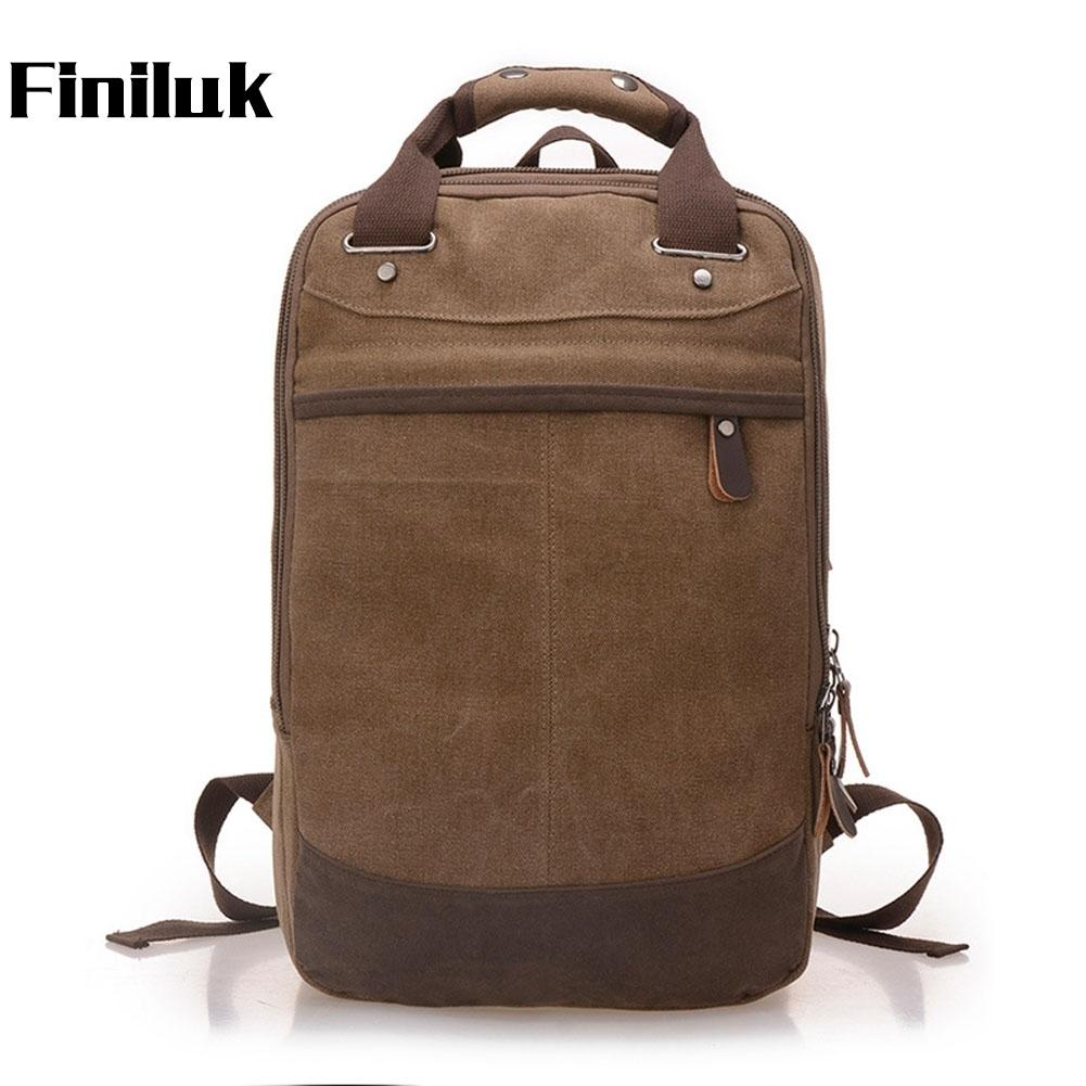 dfe3bbce7e2f Finiluk Big Capacity Shoulder Bags Men Backpack Portable Retro ...