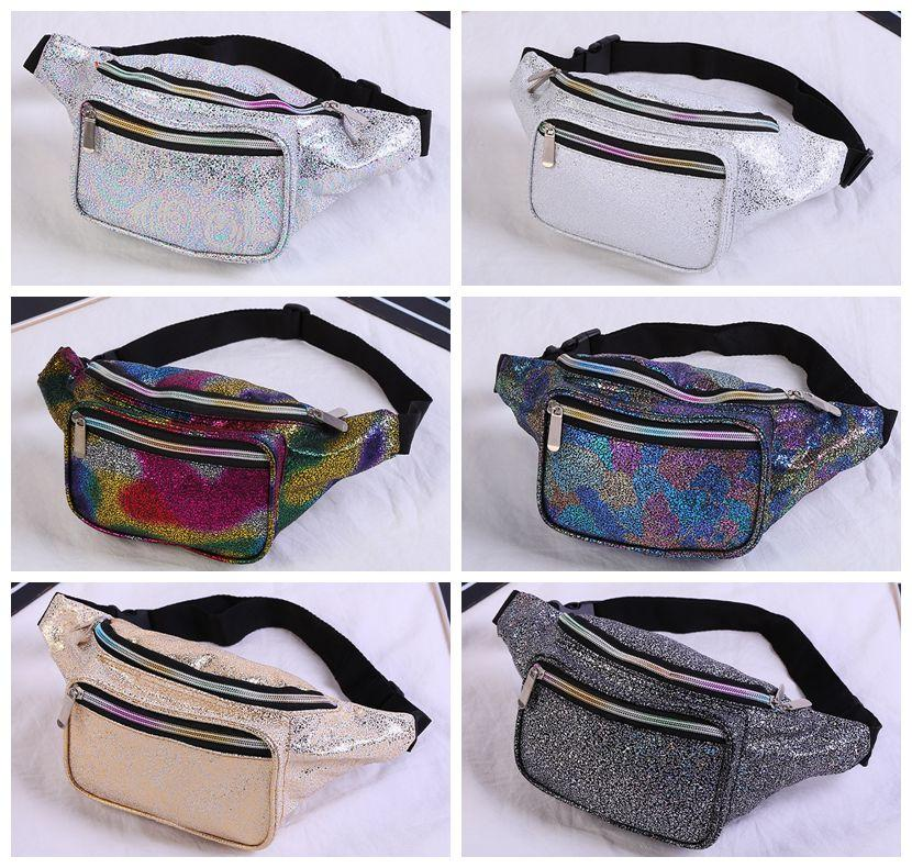 0f9235c129cbf 6styles Girls Laser Waist Bag Colorful Beach Travel Pack Fanny Pack Handbag  Girls Belt Purse Outdoor Holographic Cosmetic Bags FFA1415 Backpacks For  School ...