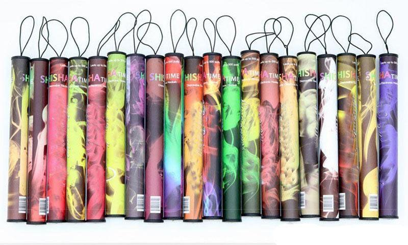 Shisha pen Eshisha Disposable Electronic cigarettes shisha time E cigs 500 puffs 41 types Hookah pen DHL EC029