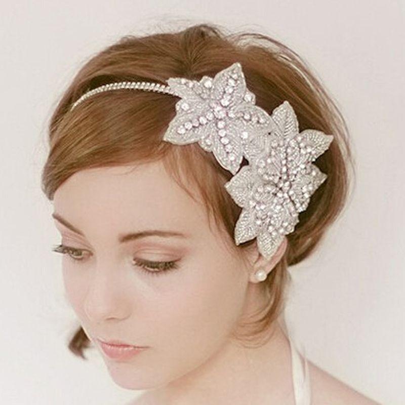 5d8c03bb2aed1 2019 Atsby Hair Accessories Handmade Rhinestone Flapper Gatsby Hair  Accessories Wedding Bridal Headpiece Crystal Headband Headpiece 1920s Flap.