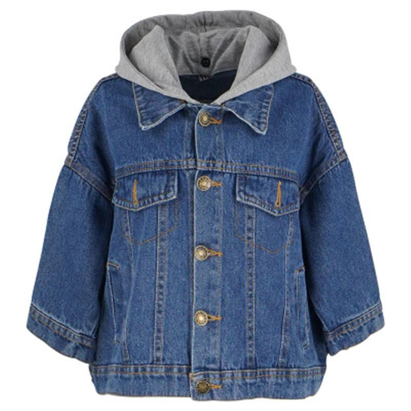 3cfaf341a Girls Denim Jackets Kids Coat 2019 Spring Girls Hooded Jeans Jacket  Children Outfit Girl Jackets Outerwear Coats AA3356