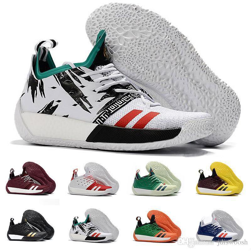 sports shoes 80b65 597b9 Negozio Online Abbigliamento Alta Qualità James Harden Vol.2 Scarpe Da Basket  Uomo Moda Nero Bianco Rosso Verde Arancione Blu Grigio Marrone Sport Da ...