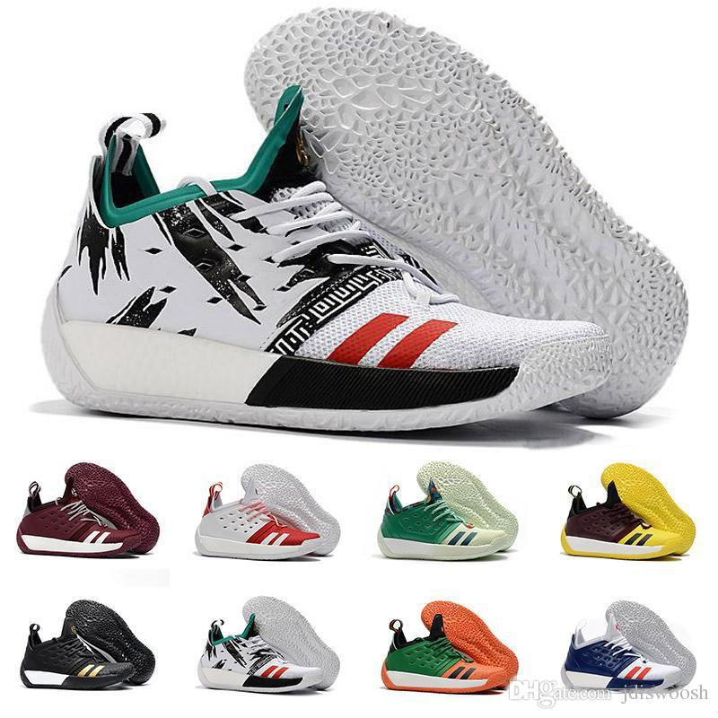 0c527ed4d917 2019 High Quality James Harden Vol.2 Basketball Shoes For Men Fashion Black  White Red Green Orange Blue Grey Brown Wine Sports Sneakers From Jdiswoosh