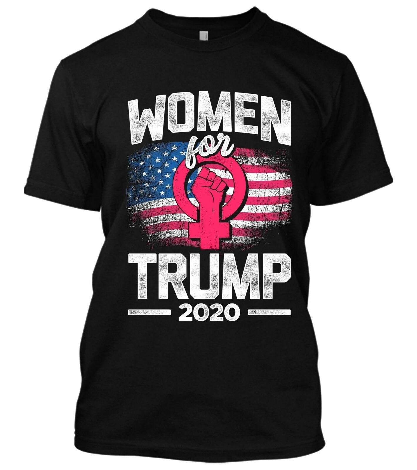 Women For Donald Trump 2020 American Flag Pink Women Vote Usa Elections T-Shirt 2019 Design Men Summer Cool Funny Funny Fitness Shirt