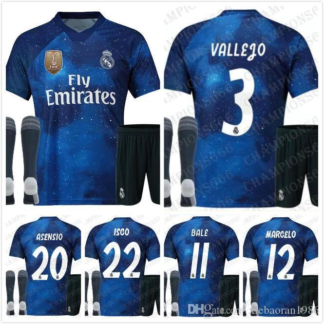 19 EA Sports Real Madrid MARCELO Special Soccer jerseys MODRIC SERGIO RAMOS  KROOS BENZEMA ISCO BALE Men Game Edition Virtual Football Shirt