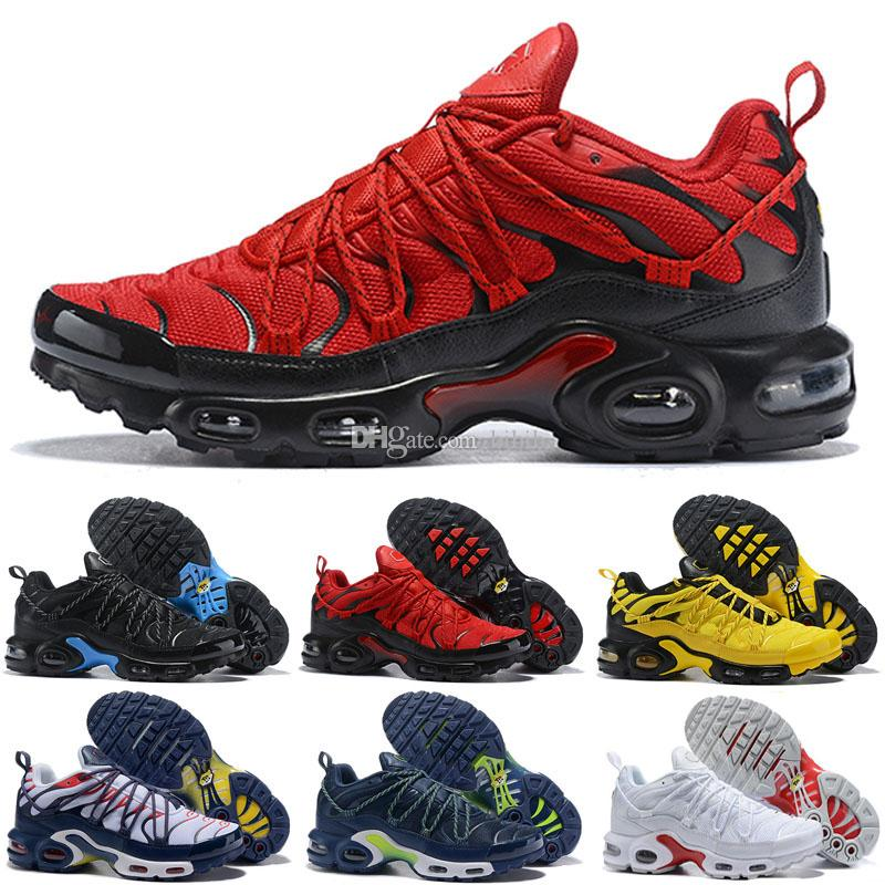 2019 New Arrival Plus TN1 Black Red Case Blue Kids Running Shoes Mens TN1 Generation High Frequency Network Surface Trainers Sports Sneakers