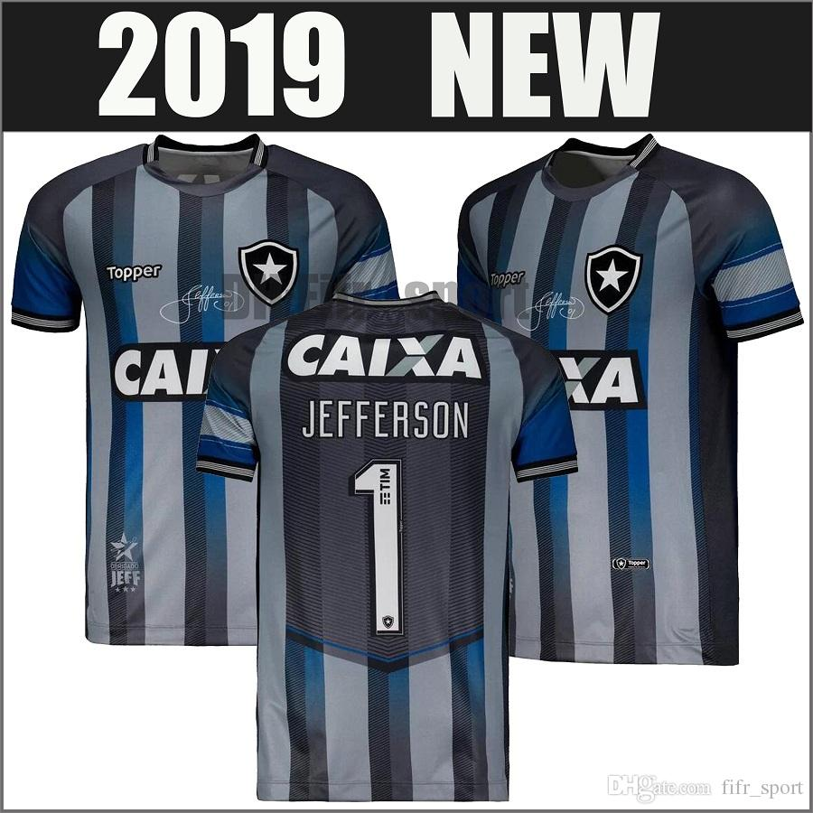 500f8278b 2019 Camisa Botafogo Goleiro Jefferson Despedida 2018 CINZA Socce ...